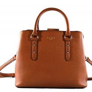 Kate Spade Evangelie Warm Cognac Leather Satchel